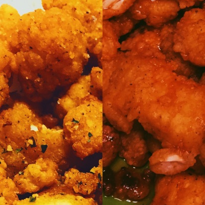 My two takes on one of my favorite foods, popcorn chicken!